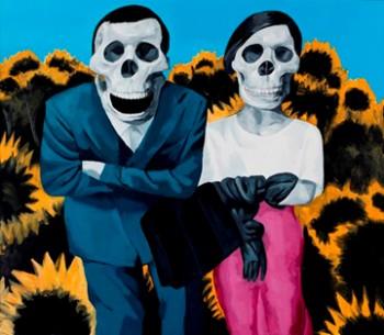 《戀人──(一)》布面油畫,2012,200x230cm