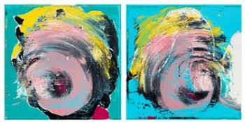 《重疊》系列,布面油畫,2012,30x30cm