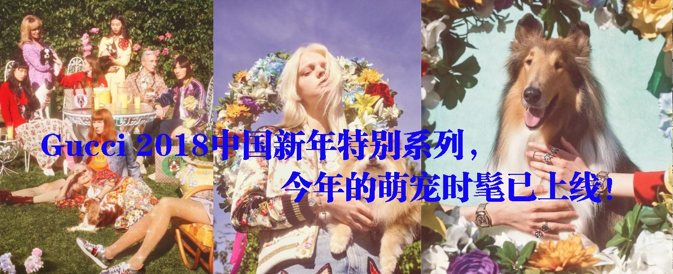Gucci 2018中国新年特别系列,今年的萌宠时髦已上线!