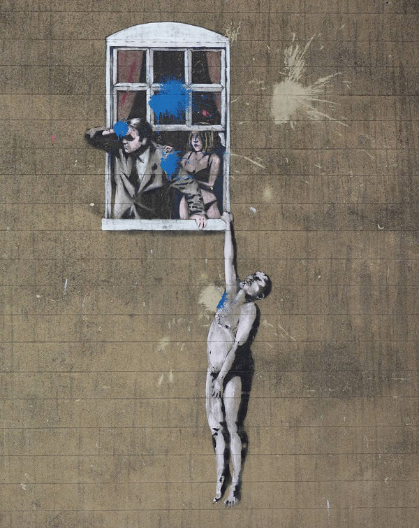 Banksy Well Hung Lover in Bristol